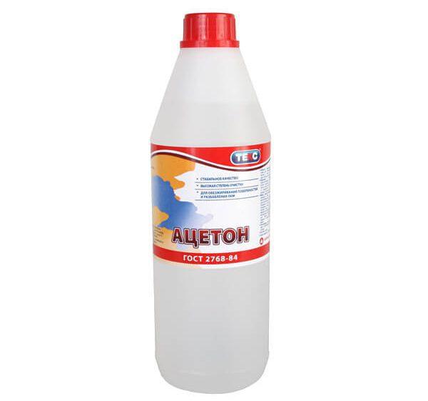 Ацетон застосовується для обезжирование