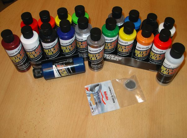 Асортимент краскок для аерографа