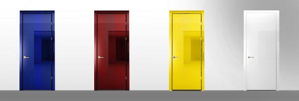 Міжкімнатні двері в різних кольорах