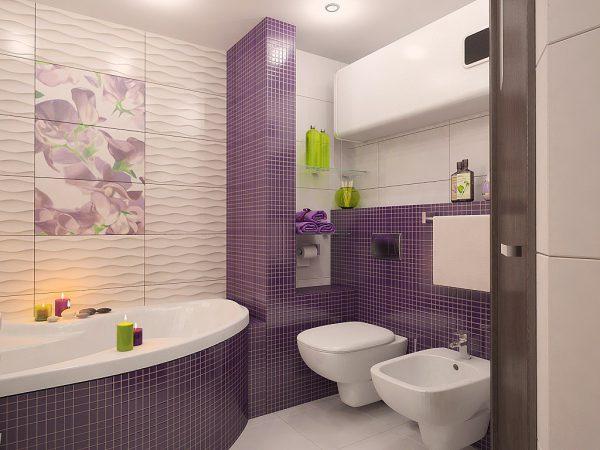 Часткове декорування плиток у ванній