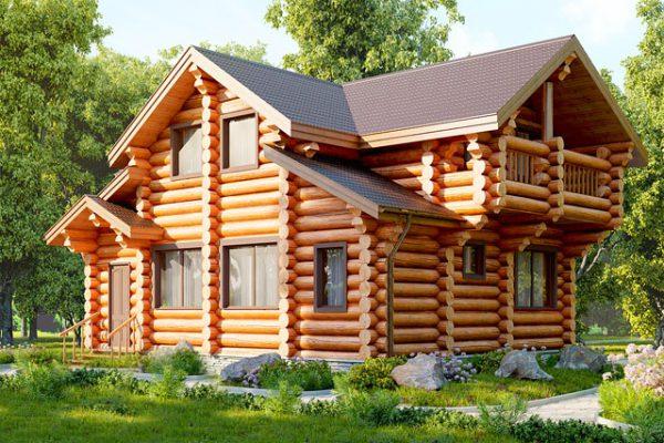 Дерев'яний будинок зі зрубу