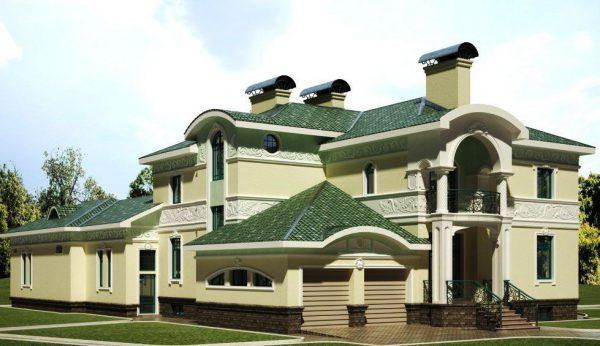 Будинок з дахом зеленого кольору
