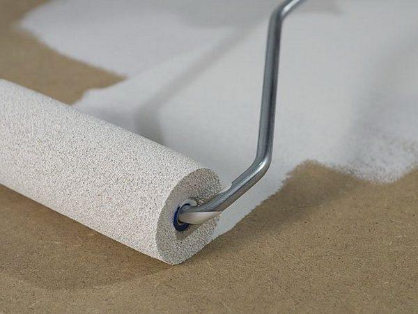 Фарбування підлоги та стін з ДВП