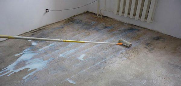 Грунтування бетону під лінолеум