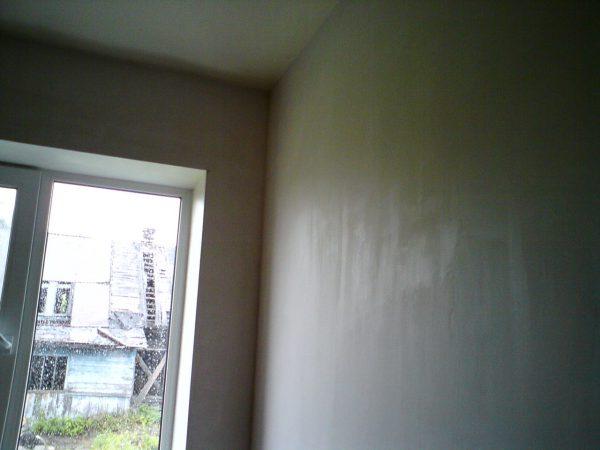 Стіни підготовлені до фарбування