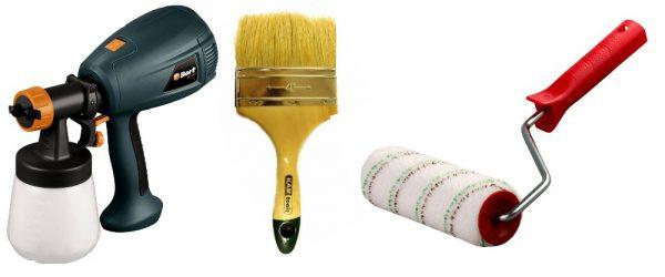 Малярний інструмент для пластика: краскопульт, валик, кисть