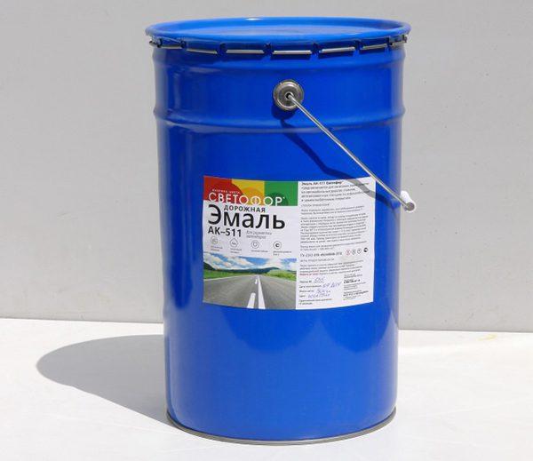 Емаль АК-511 для розмітки