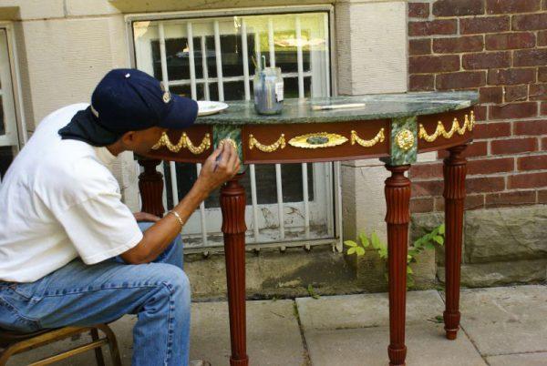 Фарбування столу своїми руками