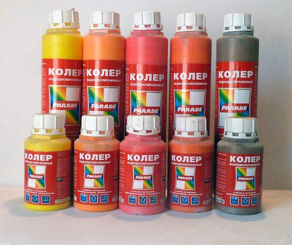 Кольори різних кольорів