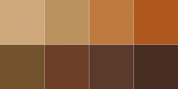 Лінійка коричневих відтінків