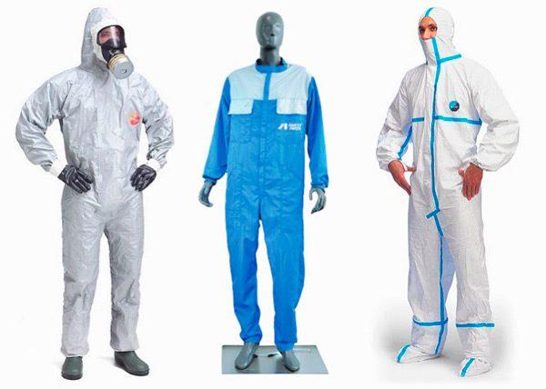 Види захисних костюмів