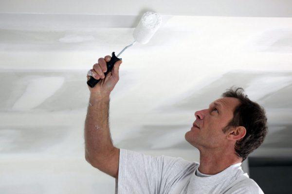 Фарбування стелі в білий колір