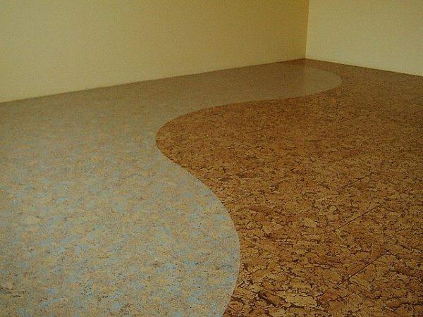 Пофарбований пробкова підлога