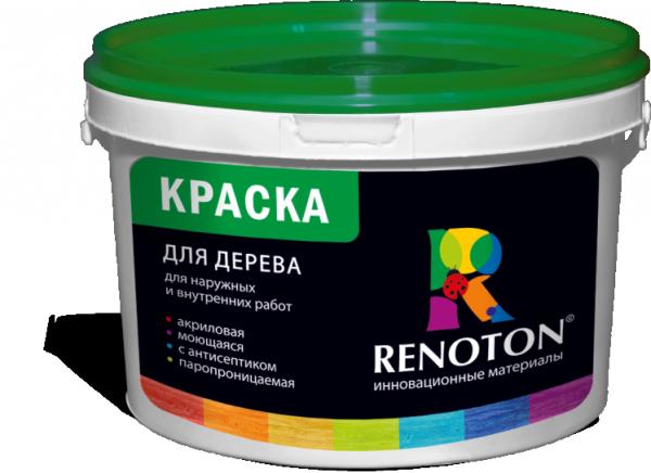 Фарба для дерева фірми Renoton