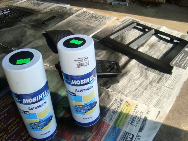 Матеріали для ремонту і фарбування пластику
