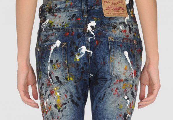 Очищення джинс від фарби