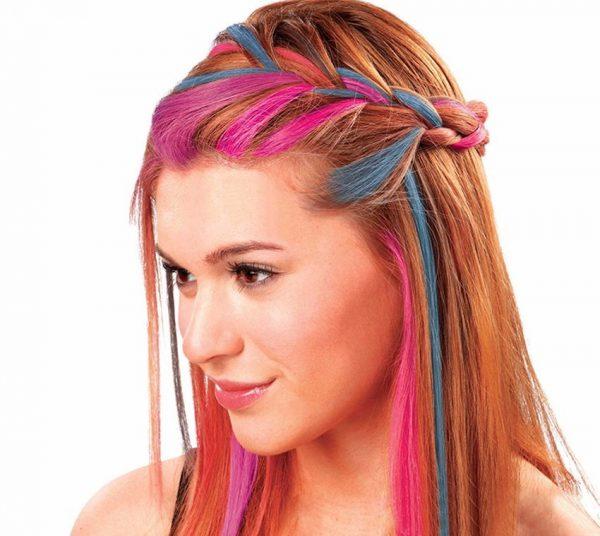 Крейдяна аерозольна змивається фарба на волоссі