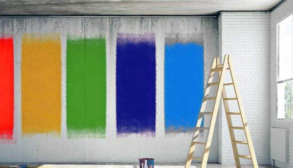 Фарби різних кольорів для бетонних стін