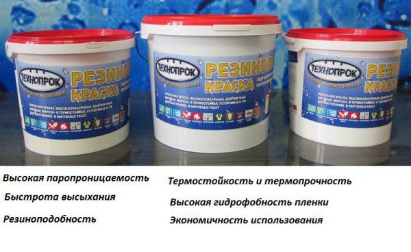 Деякі властивості гумової фарби