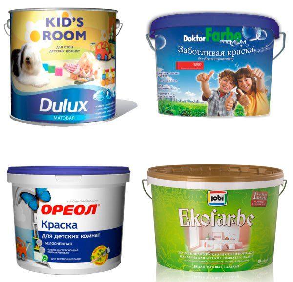 Розмаїття фарб для дитячих кімнат
