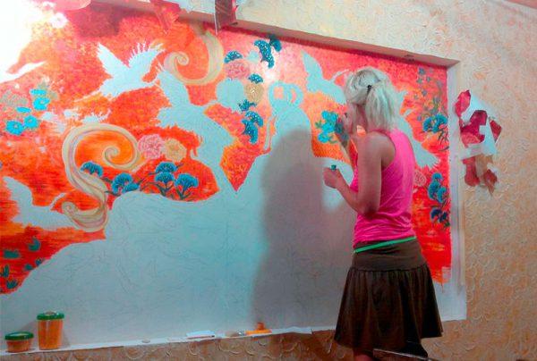 Фарби для розпису стін