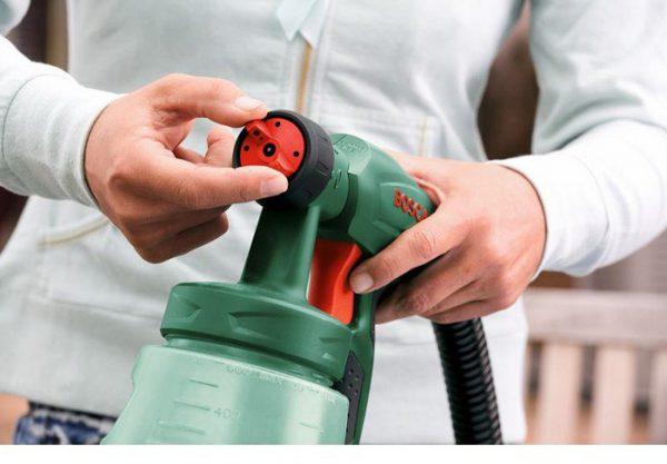 Налаштування рівня тиску у фарбопульта
