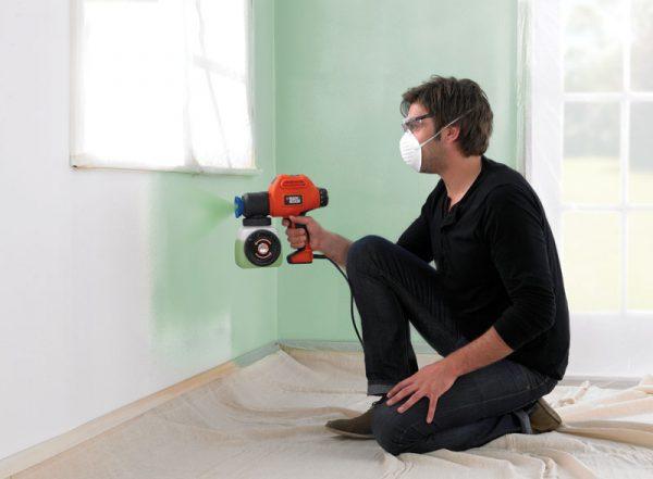 Фарбування стін фарбопультом