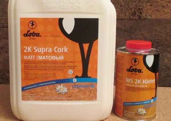 Лак Loba 2k Supra Cork 5 літрів