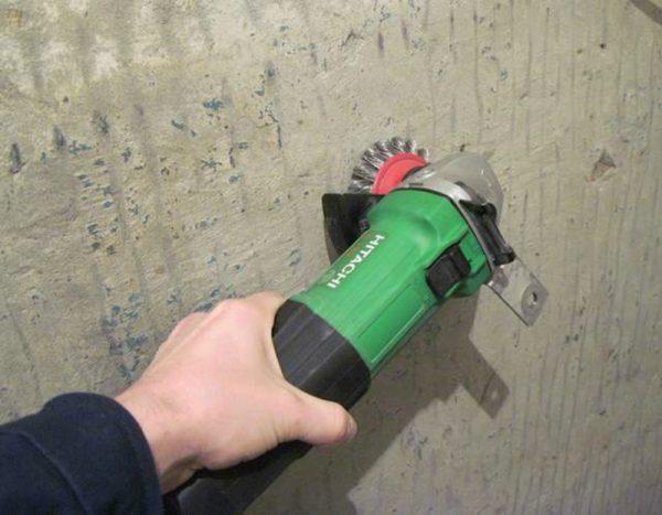 Механічний метод видалення фарби з бетону