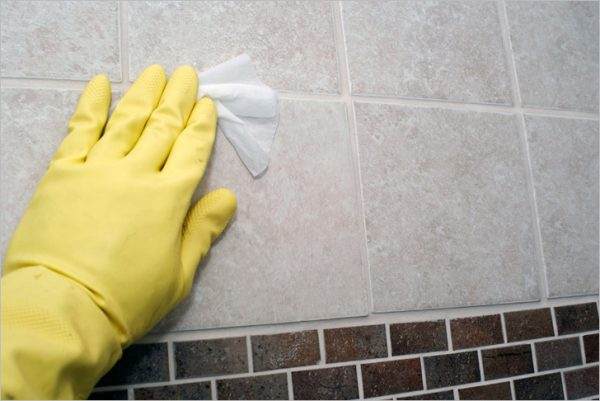 Миття плитки перед фарбуванням