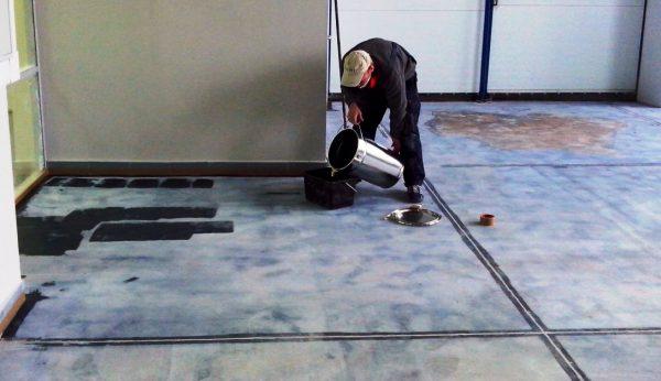 Знепилювання бетону просоченням