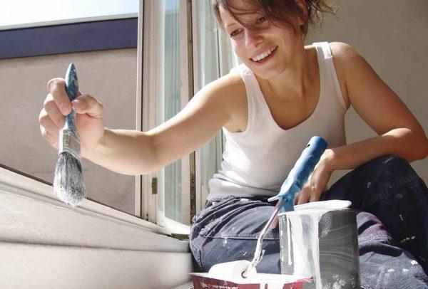 Фарбування алкідною фарбою вікон