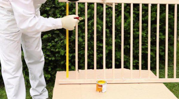 Фарбуємо ліжечко фарбою