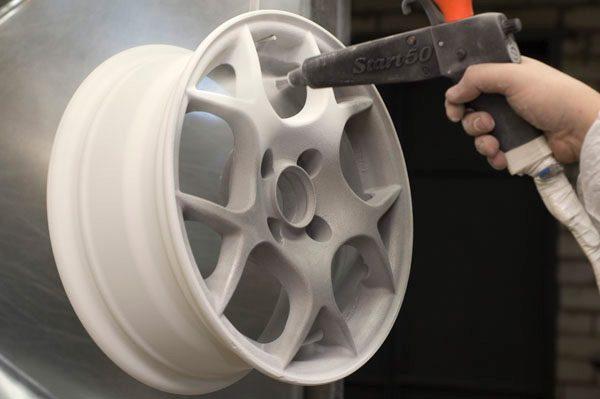 Фарбування автомобільних дисків порошковою фарбою
