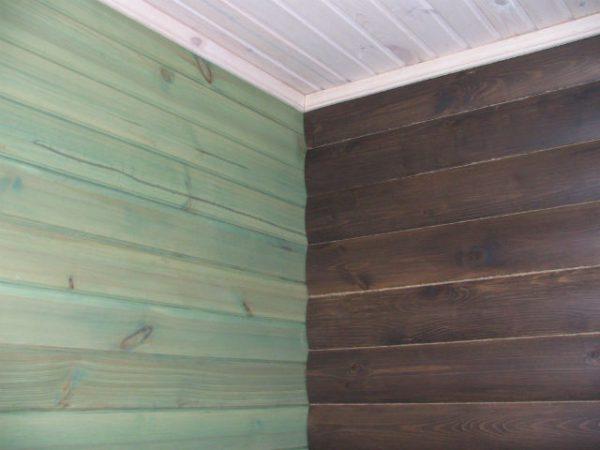 Фарбування стіни - імітація дуба