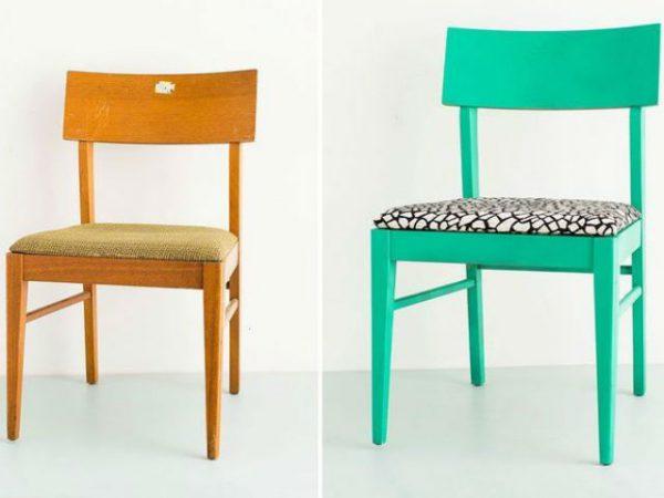старий стілець до і після