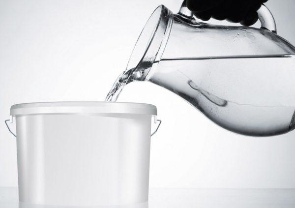 Розбавлення фарби водою