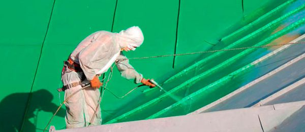 Гумова фарба в краскопульте