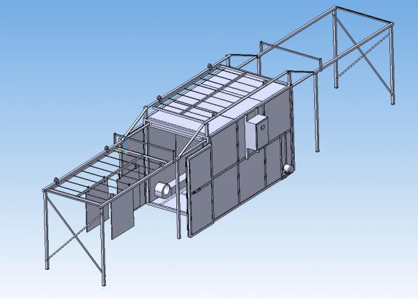 Конструкція печі полімеризації