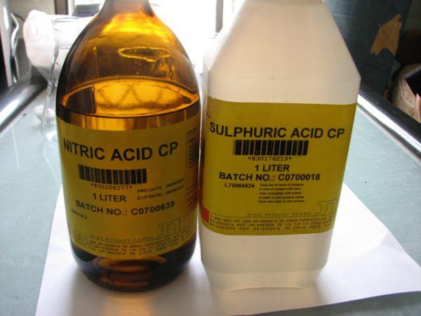 Сірчана кислота для оксидування за методом Бутурліна