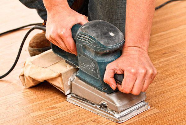 Зняття старої фарби з підлоги механічним способом