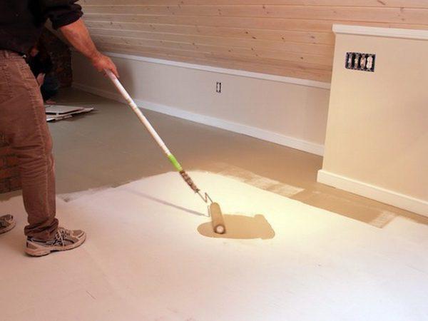 Фарбування підлоги з ДВП
