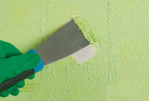 Видалення фарби з бетонної стіни