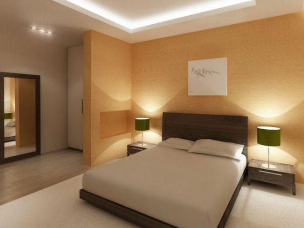 Стіни спальні в пастельних тонах